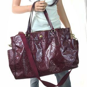 COACH Leather LRG Signature Diaper Bag #26030